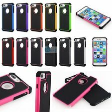 ARMOR SHOCKPROOF HYBRID RUBBER PC RUGGED HARD Case Cover For iPhone 5 6s 7 7PLUS