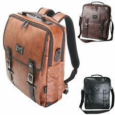 ChanChanBag 3 Way Bag Mens Backpack for Laptop Faux Leather Messenger Bag 591 CA