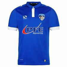 Sondico Oldham Athletic FC Home Jersey 2016 2017 Mens Blue Football Soccer Shirt