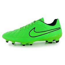 Nike Tiempo Genio FG Firm Ground Football Boots Mens Green/Black Soccer Cleats