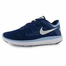 Nike Flex 2016 Running Trainers Junior Girls Royal/Silver Sports Shoes Sneakers