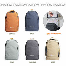 "RAWROW 13"" Laptop Notebook Sleeve Backpacks Laptop Backpack Canvas School Bag"