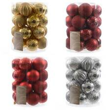 Assorted Shatterproof Baubles Box of 26