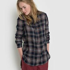 Made In France Womens Checked Blouse, Made In France