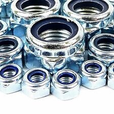 M4 NYLOC LOCK NUT 10MM ZINC PLATED 10 20 50 100 & 200 PACKS AVAILABLE