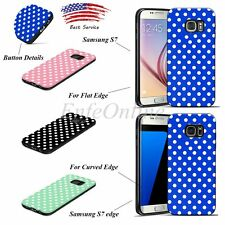 Hard TPU Soft Rubber Cute Polka-dot Case Cover New For Samsung Galaxy S7/S7 Edge