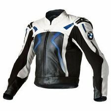 BMW LEATHER JACKET MOTORCYCLE RACKING JACKET MEN MOTORBIKE BIKER LEATHER JACKETS