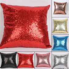 Decorative Pillow Case Sequined Cushion Cover Bedroom Pillowcase Home Decor Gift