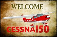 Cessna 150 Airplane Welcome Mat - Personalized with your N#