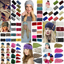 High New Winter Women Ear Warmer Headwrap Fashion Crochet Headband Knit Hairband