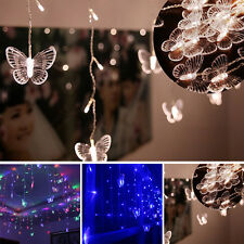 Butterfly LED String Curtain Mini Night Light Lamp Home Party Xmas Wedding Decor
