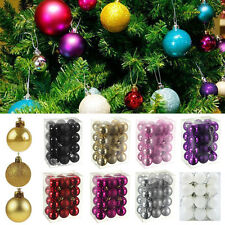 12 Colours-24pcs Christmas Tree Xmas Balls Decor Bauble Party Home Ornament Gift