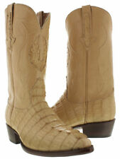 mens beige real crocodile alligator leather cowboy boots western rodeo j toe