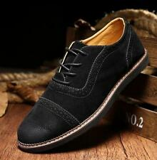 New Mens oxford brogue carving casual shoes suede lace up dress formal shoes