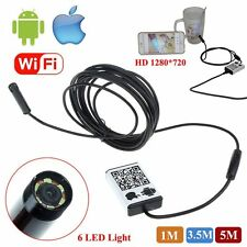 Wifi Endoscope Borescope Inspection Snake HD Camera Video for iPhone Android IOS