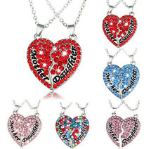 Pendant Gift Necklace Fashion Jewelry Crystal Heart-Shaped Clavicle Alloy Chain