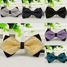 Unisex Prince Color Wedding Bowtie Polyester Party Necktie Fashion Bow Tie Chic
