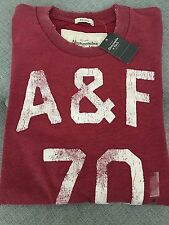 NWT New Abercrombie & Fitch A&F Hollister Classic Mens T Shirt Tee Red Small S