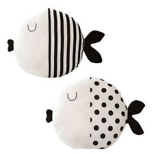 Black White Cartoon Fish Pillow Toys Baby Kids Boys Kids Christmas Gifts