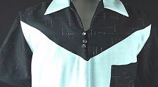 Vintage 1950's Atomic Speck Rayon Rockabilly VLV Swankys Shirt Small-2XX