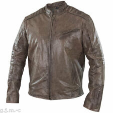 Xelement BXU1976 Omega Mens Distressed Brown Cowhide Leather Motorcycle Jacket
