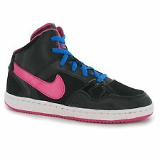 Nike Son of Force Mid Top Trainers Junior Girls Blk/Pink Sports Shoes Sneakers