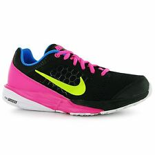 Nike Tri Fusion Trainers Junior Girls Black/Volt/Pink Sports Shoes Sneakers