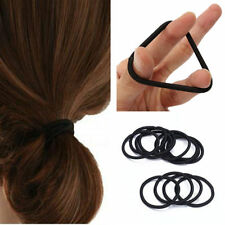 50pcs Girl Elastic Hair Tie Band Rope Ring Ponytail Holder Accessories Black 4mm