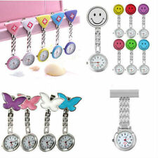 New Cute Pendant Butterfly Nurse Clip-on Brooch Quartz Hanging Pocket Watch F7 T
