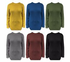 Ladies Womens Oversized Baggy Dress Knitted Jumper Chunky Sweater Plus Size 8-16