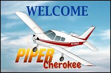 Piper Cherokee PA-28-140 Airplane Welcome Mat - Personalized with your N#