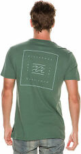 New Billabong Men's Quadrant Ss Tee Short Sleeve Cotton Green