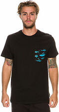 New Billabong Men's Hotlantic Pocket Ss Tee Black