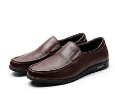 Mens slip on loafer driving shoes leather dress formal flat casual moccasin