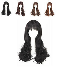 Women's Long Wigs with Fluffy Curly Wave Style Neat Bangs Wigs For Party Cosplay