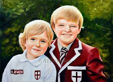 """Custom OIL PORTRAIT ON CANVAS - 12x16"""" - Hand painted Portrait from photo"""