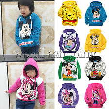 Kids Boys Girls Cartoon Mickey Minnie Mouse Print Hoodie Sweater Sweatshirt Coat
