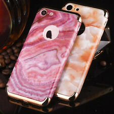 Glossy Marble Pattern Full Protect Case Plating Bumper Cover for iPhone 6 7 Plus