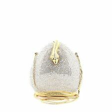 Judith Leiber Snake Minaudiere Crystal Small