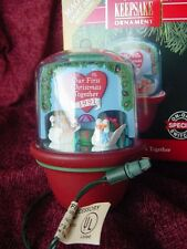 MAGIC OUR FIRST CHRISTMAS TOGETHER Hallmark Ornament w box 1991 Swan RIDE works
