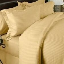 US-BEDDING COLLECTION 1000TC 100%EGYPTIAN COTTON GOLD STRIPE US QUEEN SIZE