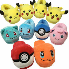 Pocket Monster Pikachu Plush Home Anime Pokemon Go Winter Slippers Indoor Shoes