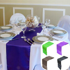 Satin 30x275cm Party Table Runner Wedding Reception Banquet Decoration 12x108""