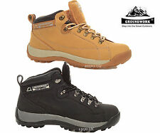 MENS LADIES GROUNDWORK SAFETY STEEL TOE CAP  WORK BOOTS LACE UP TRAINERS SHOES