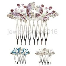 Hot Fashion Crystal Butterfly Hair Comb Wedding Bridal Party Hair Jewelry Gift