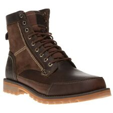 New Mens Timberland Brown Larchmont 6` Boot Leather Boots Lace Up