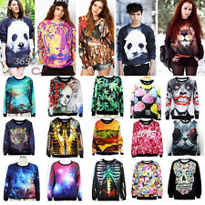 Galaxy Women Men 3D Animal Print Hoodie Sweatshirt Pullover Top Tracksuit Jumper