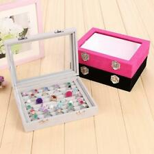 Fashion Velvet Jewellery box Earring Ring Display Storage Case Container Holder