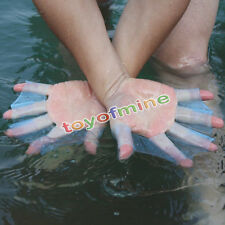 Swimming Flippers Swim Gear Hand Finger Webbed Paddle Training Silicone Gloves