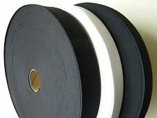 """Knitted Elastic Black/White Size:  1"""" inch to 3""""inch wide yards New~knit Elastic"""